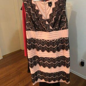 Pink lace dress 18w